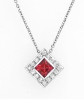 Tourmaline Diamond Shaped Pendant