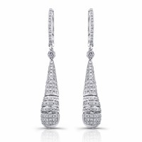 White Gold Dangle Diamond Earrings